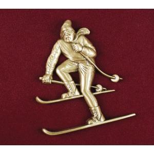 Downhill Skier, Urn Applique