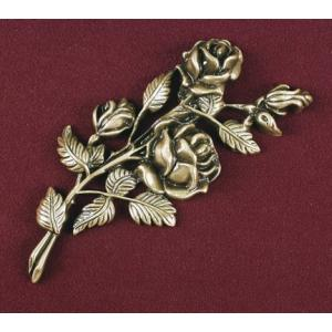 Three Bud Stem Rose, Urn Applique