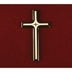 Silhouette Cross with Cross, Urn Applique