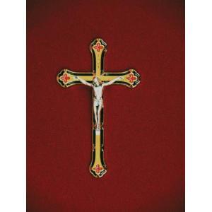 Gold/Green Crucifix, Urn Applique