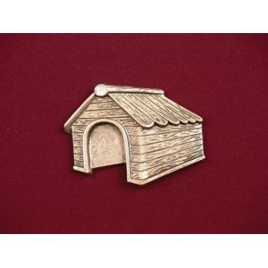 Dog House – Bronze Pet Urn Applique