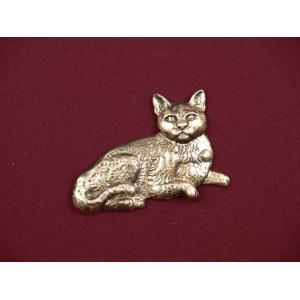 Short-Haired Cat – Bronze Pet Urn Applique