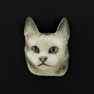 Maine Coon (silver) 3D Pet Head Cremation Urn Applique