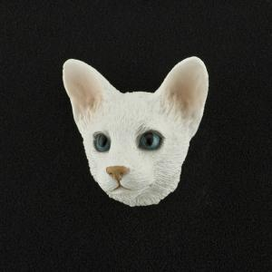 Oriental Shorthair (White) 3D Pet Head Cremation Urn Applique
