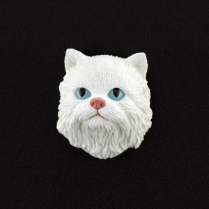 Persian (White) 3D Pet Head Cremation Urn Applique
