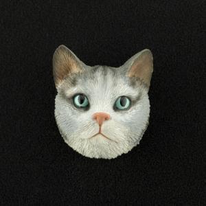 Silver Tabby (shorthair) 3D Pet Head Cremation Urn Applique