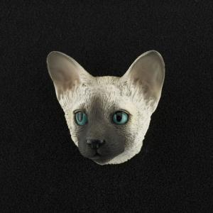 Siamese 3D Pet Head Cremation Urn Applique