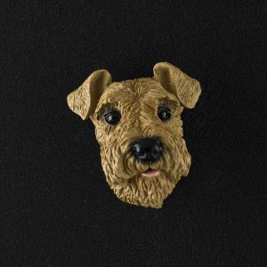 Airedale 3D Pet Head Cremation Urn Applique