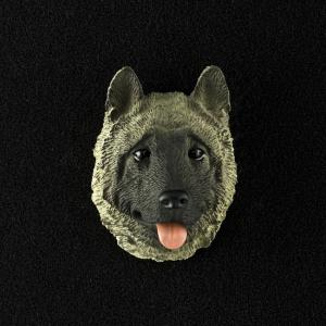 Akita (Gray) 3D Pet Head Cremation Urn Applique