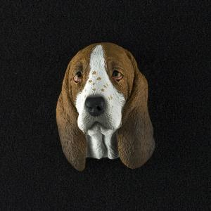 Basset Hound 3D Pet Head Cremation Urn Applique