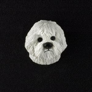 Bichon Frise 3D Pet Head Cremation Urn Applique