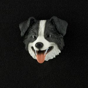 Border Collie 3D Pet Head Cremation Urn Applique