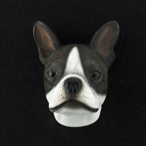 Boston Terrier 3D Pet Head Cremation Urn Applique