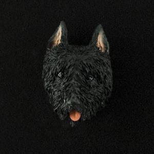 Bouvier (cropped) 3D Pet Head Cremation Urn Applique