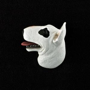 Bull Terrier 3D Pet Head Cremation Urn Applique