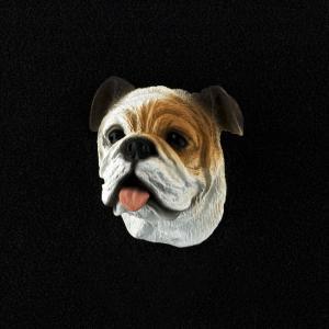 Bulldog (White) 3D Pet Head Cremation Urn Applique