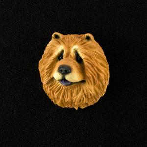Chow (red) 3D Pet Head Cremation Urn Applique