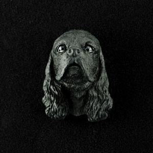 Cocker Spaniel (Black) 3D Pet Head Cremation Urn Applique