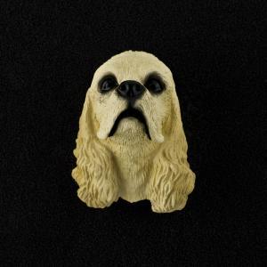 Cocker Spaniel (blonde) 3D Pet Head Cremation Urn Applique