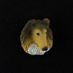 Collie (sable) 3D Pet Head Cremation Urn Applique