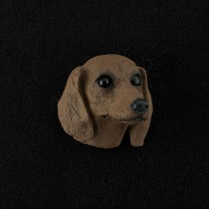 Dachshund (red) 3D Pet Head Cremation Urn Applique