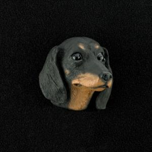 Dachshund (Black) 3D Pet Head Cremation Urn Applique