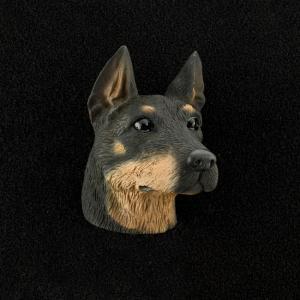 Doberman (Black) 3D Pet Head Cremation Urn Applique