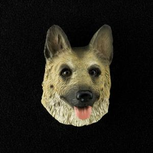 German Shepherd (tan/Black) 3D Pet Head Cremation Urn Applique