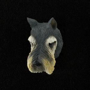 Giant Schnauzer (Gray) 3D Pet Head Cremation Urn Applique