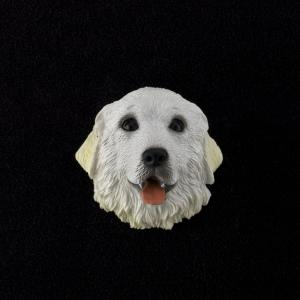 Great Pyrenees 3D Pet Head Cremation Urn Applique