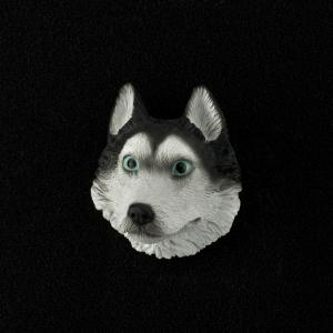 Husky (Black/White) 3D Pet Head Cremation Urn Applique