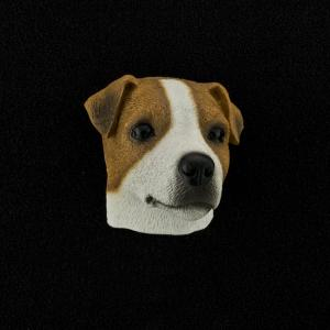Jack Russell Terrier (smooth) 3D Pet Head Cremation Urn Applique
