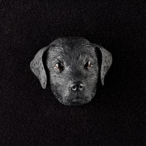 Labrador Retriever (Black) 3D Pet Head Cremation Urn Applique
