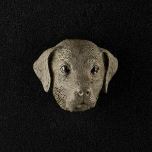 Labrador Retriever (chocolate) 3D Pet Head Cremation Urn Applique
