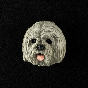 Lhasa Apso (Gray) 3D Pet Head Cremation Urn Applique