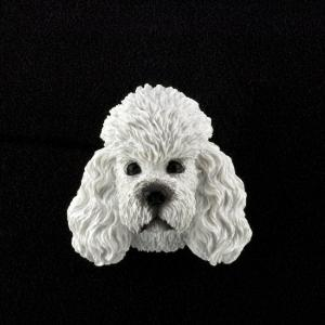 Poodle (White) 3D Pet Head Cremation Urn Applique