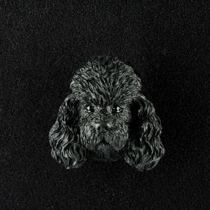 Poodle (Black) 3D Pet Head Cremation Urn Applique