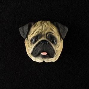 Pug (Brown) 3D Pet Head Cremation Urn Applique