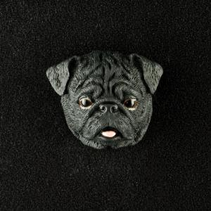 Pug (Black) 3D Pet Head Cremation Urn Applique