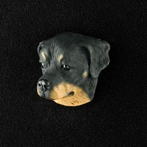 Rottweiler 3D Pet Head Cremation Urn Applique