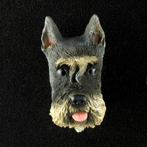 Schnauzer (Gray) 3D Pet Head Cremation Urn Applique