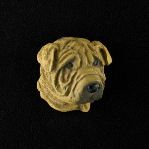 Shar Pei (Brown) 3D Pet Head Cremation Urn Applique