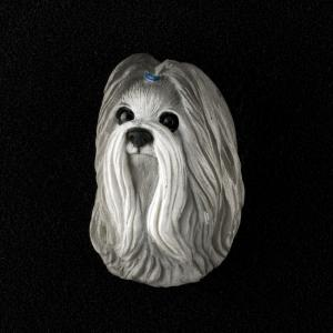 Shih Tzu (Gray) 3D Pet Head Cremation Urn Applique
