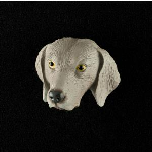 Weimaraner 3D Pet Head Cremation Urn Applique