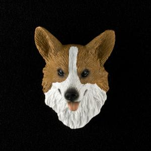 Welsh Corgi (Pembroke) 3D Pet Head Cremation Urn Applique