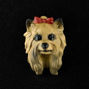 Yorkshire Terrier 3D Pet Head Cremation Urn Applique