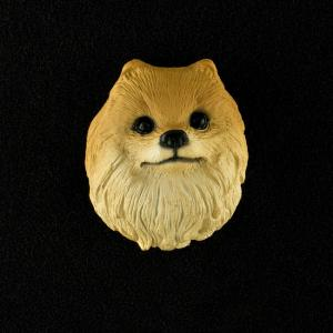 Pomeranian (red) 3D Pet Head Cremation Urn Applique