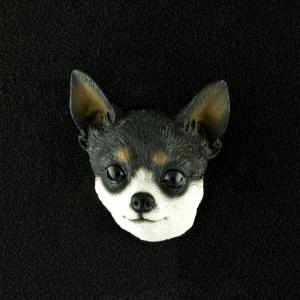 Chihuahua (Black) 3D Pet Head Cremation Urn Applique