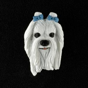Maltese 3D Pet Head Cremation Urn Applique