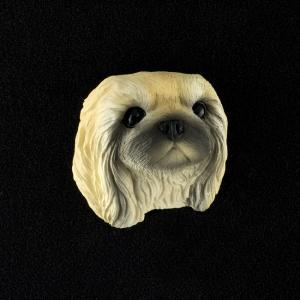 Pekingese 3D Pet Head Cremation Urn Applique